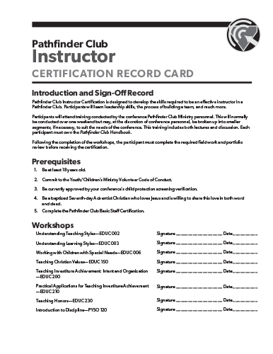 Basic Staff Workshop Sign-off Page